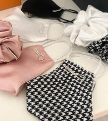 paket pralna maska s svileno podlogo in scrunchie