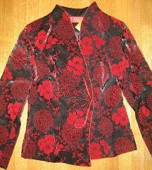 Ženska jakna - cvetlični vzorec