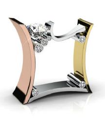 ZNIŽANO Unikaten prstan iz plemenitih kovin