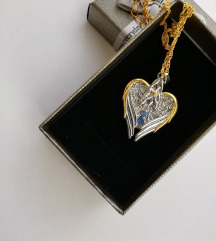 Srebrna ogrlica z podobo angela