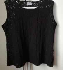 Ženska majica top bluza čipkasta črna Labod 48