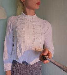Bela peplum srajca