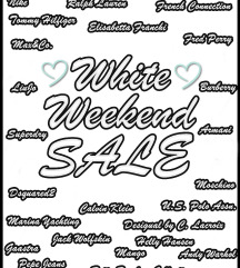 ❤️ WHITE WEEKEND SALE ❤️