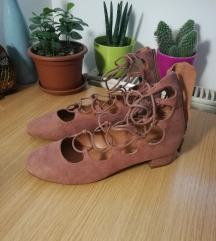 H&M lace up balerinke