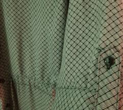 Srajčka obleka s pepita vzorcem 38-40