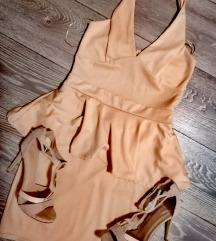 Komplet Peplum oblekica+petke 39 nikoli nošeno