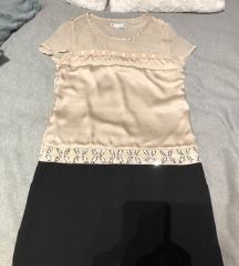 Črno nude tunika/oblekica 🎀