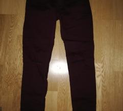 Bordo rdeče jeans hlače st. 36