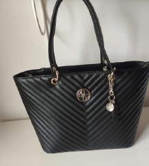 Črna Guess original torba, 1X nošena/(MPC 135 EUR)