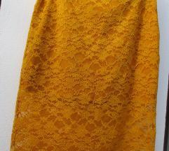 NOVO rumeno čipkasto krilo Zara