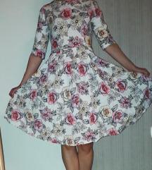 Rožasta oblekca XL
