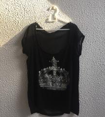 Majica z prosojnim hrbtom
