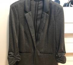 Sivo črn blazer