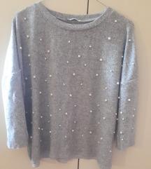Zara pulover z biserčki(všteta poštnina)