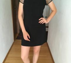 Zara črna obleka s čipko S