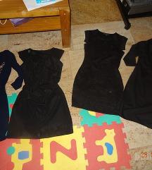 NIŽAM CENO! črne obleke št. S, čevlji
