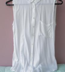Bela bluza brez rokavov