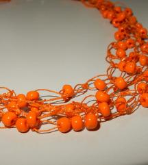 oranžna OGRLICA ■nova ■perlice