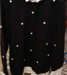 Srajčni pulover z biserčki