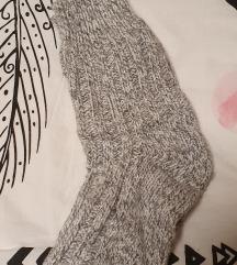 Topli ročno pleteni zokni/nogavice