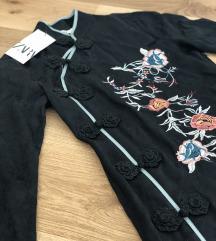 Novo Zara žakard obleka, št. S