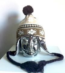 Zimska kapa s cofom (s poštnino)