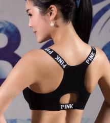 Črn športni top Pink