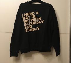 Zara črn pulover M