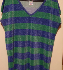 Daljša modra-zelena majčka Zara