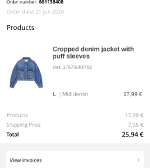 Nova jeans jakna Stradivarius🦋😊 (še z računom)
