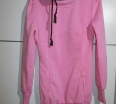 Daljši roza pulover