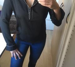 Črna fina satenasta srajca