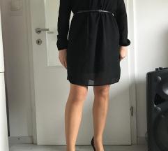 Črna oblekca s prosojnimi rokavi