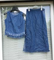 SAMI št. 36 / 38 tanek jeans komplet