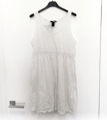 ZNIŽ.H&M bela obleka/tunika