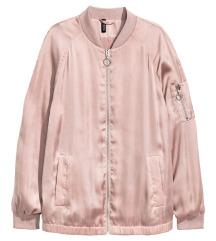 Pink satin bomber H&M