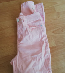 Baby roza high waist hlače