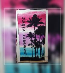 brisača za na plažo s potiskom ( 160 x 86 cm )