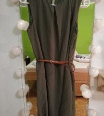 Olivno zelena obleka