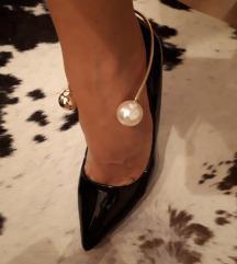 Salonar črni s perlami