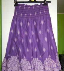 Poletna vijolična obleka