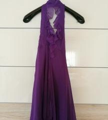 Vijolična poletna obleka