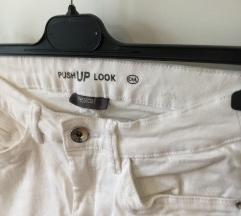 Push Up bele jeans