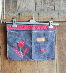 Ročno izdelana jeans torbica E