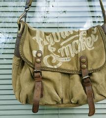 TARGET torbica pravo usnje kanvas
