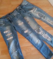 Dvojne ripped jeans