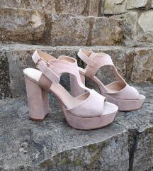 Roza sandali s peto