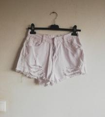 Kratke bele jeans hlace