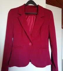 Bordo rdeč blazer