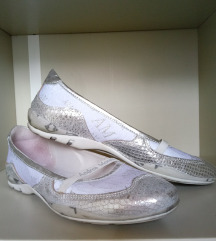 Balerine - srebrno bele, št. 37